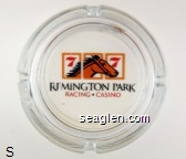 Remington Park Racing & Casino - Black and red imprint Glass Ashtray