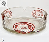 Pick Hobson's Riverside Hotel and Casino, Reno Nevada - Red imprint Glass Ashtray