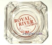 Royal River Casino - Red imprint Glass Ashtray