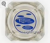 The New Riverside Hotel, Reno's Renowned Resort - Blue on white imprint Glass Ashtray