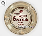 The Riverside Hotel, Reno - Red imprint Glass Ashtray