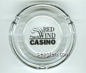 Red Wind, Nisqually, Casino - Black imprint Glass Ashtray