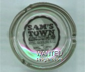 Sam's Town, Hotel Gambling Hall and Bowling Center, (702) 456-7777 - Black imprint Glass Ashtray