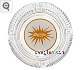Sands - Yellow on white imprint Glass Ashtray