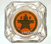 246 Silver Street, 738-9925, The Star Bar - Dining Room, Basque Family Style Dinners, Elko, Nevada - Green on orange imprint Glass Ashtray