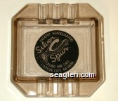 Jackpot Headquarters, Silver Spur Casino - Bar - Cafe, Carson City, Nevada - White on black imprint Glass Ashtray