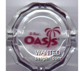 Si Redd's Oasis, Resort Hotel Casino - Red imprint Glass Ashtray