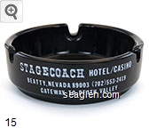 Stagecoach Hotel/Casino, Beatty, Nevada 89003 (702) 553-2419, Gateway to Death Valley - White imprint Glass Ashtray