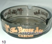 The Brass Ass Casino - Gold imprint Glass Ashtray