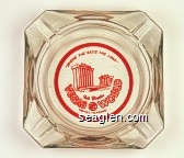 ''Where the Sky's the Limit'', Bob Stupak's Vegas World, Hotel - Casino - Red imprint Glass Ashtray