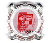 Tommy's Victory Club, Bar Gaming, Carson City Nevada - Red on white imprint Glass Ashtray