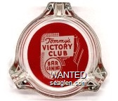 Tommy's Victory Club, Bar Gaming, Carson City, Nevada - Red on white imprint Glass Ashtray