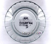 Yavapai Casino & Gaming Center, Prescott, Arizona - Black imprint Glass Ashtray