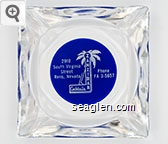 Zanzibar Cocktails, 2910 South Virginia Street, Reno, Nevada, Phone FA 3-5657 - White on blue imprint Glass Ashtray
