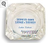 Zephyr Cove Lodge & Resort, Lake Tahoe, Nevada - Blue imprint Glass Ashtray